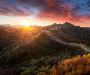 Moutains, scenery, and sunset image