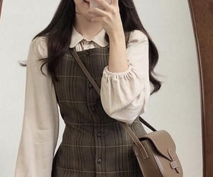 dress, korean, and outfit image