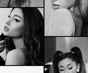 black and white, wallpaper, and ariana grande image