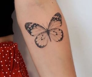 design, tattoo, and butterfly image