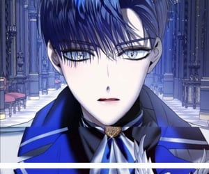 beauty, manhwa, and blue image