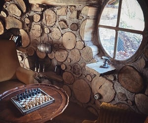 chessboard, cozy, and hobbit house image