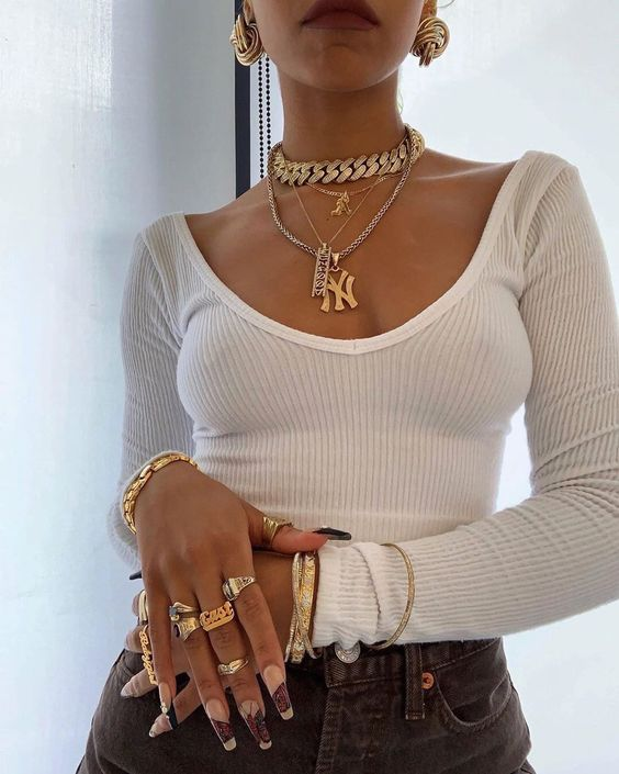 fashion, outfit, and nails image
