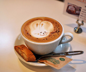 coffee, bunny, and food image