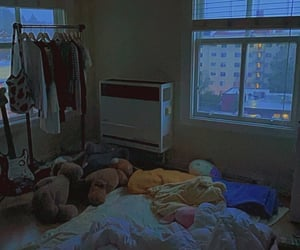 aesthetic, apartment, and bed image