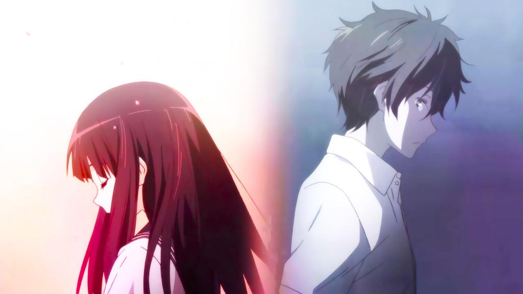 anime, boy and girl, and hyouka image