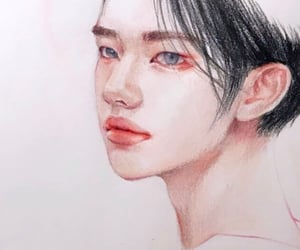 art, kpop, and drawing image