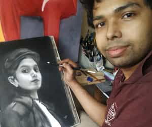 art, paintings, and charcoal image
