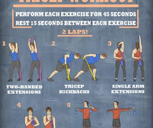 workout, workout routine, and fitness image