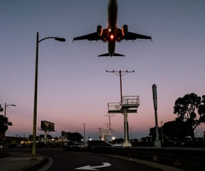 airplane, travel, and plane image