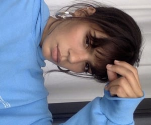 bangs, beauty, and blue image