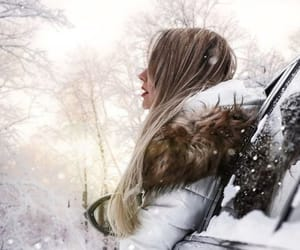 happiness, moments, and snow image