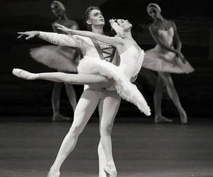 ballerina, ballet, and swan lake image