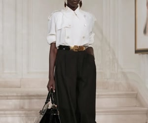 model, ralph lauren, and runway image
