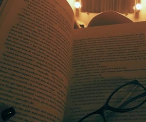 book, glasses, and lights image