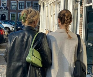 braids, fashion, and green image