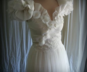 bridal gown, wedding gown, and 1930s fashion image