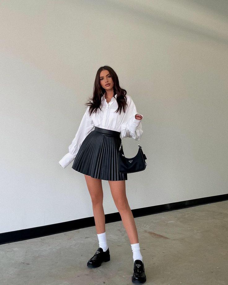 black skirt, blogger, and fashion image