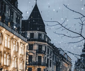 city, winter, and christmas image