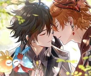 handsome, anime boy, and genshin impact image