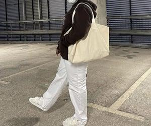 streetwear, tote bag, and baggy pants image