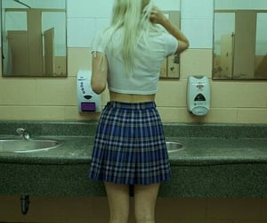 girl, grunge, and school image