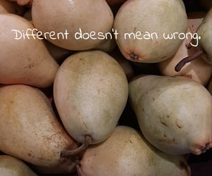 different, pear, and quotes image