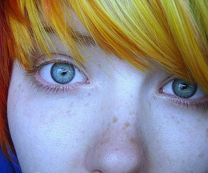 colored hair, rainbow, and coloured hair image