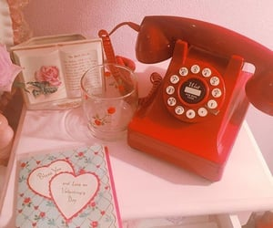 red, vintage, and aesthetic image
