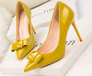 high heels, patent leather, and stiletto heels image