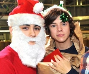 zayn, christmas, and Harry Styles image
