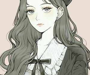 anime, art girl, and anime girl image
