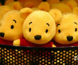 basket, winnie the pooh, and soft toys image