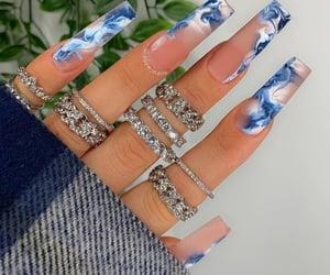 nail inspo, nail art, and rings image