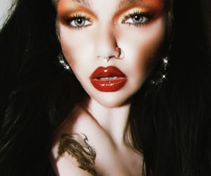 black hair, emo, and vampire image