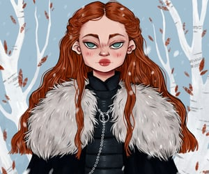 house stark, art, and sansa stark image