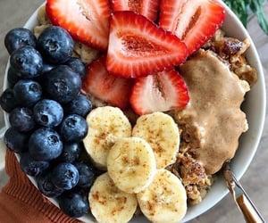 banana, blueberries, and bowl image