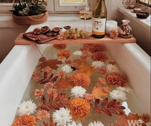 autumn, bath, and bathroom image