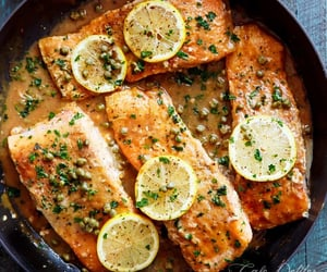 Easy salmon piccata - Nom-Food!