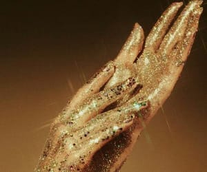 gold, glitter, and aesthetic image