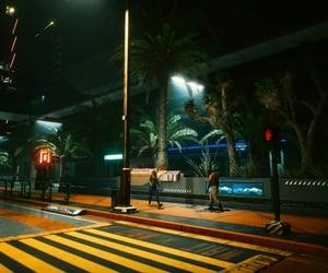 city, cyberpunk, and crosswalk image