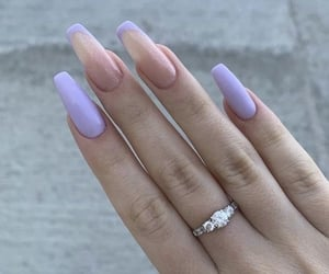 nails, beauty, and lilac image