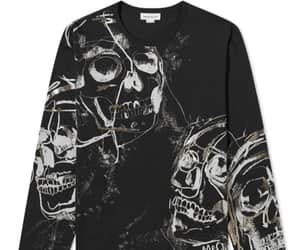 black, skull, and dark image