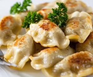 food, dumplings, and dinner image