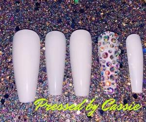 press on nails, long nails, and nails image