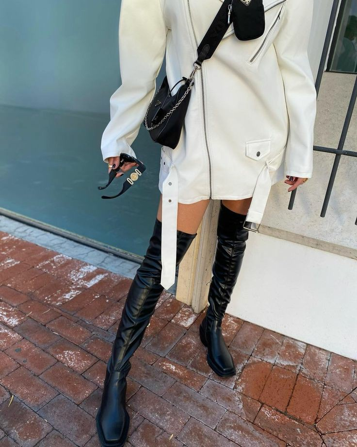 blogger, fashion, and high boots image