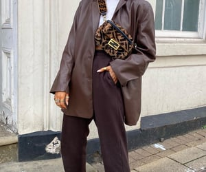 blazer, brown, and casual image