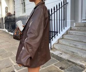 brown and leather image