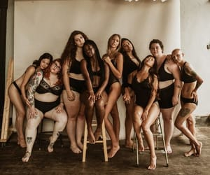 body, empower women, and black lingerie image
