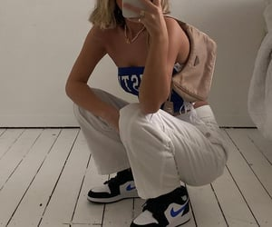 streetwear, everyday look, and nike sneakers image